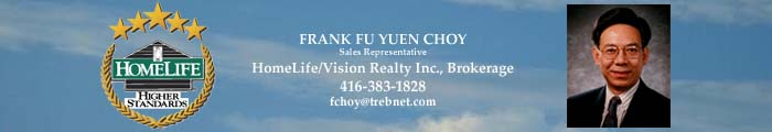 Call FRANK CHOY to BUY & Sell a Condo in Greater Toronto Area.